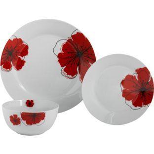Buy HOME 12 Piece Porcelain Poppies Dinner Set at Argos.co.uk, visit ...