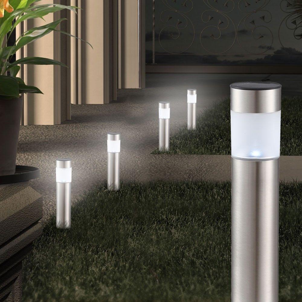 Edelstahl 4er Set Solarleuchten Beleuchtung Garten Terrasse Led Lampe Stecklampe Beleuchtung Garten Solarlampen Garten Solarleuchten Garten
