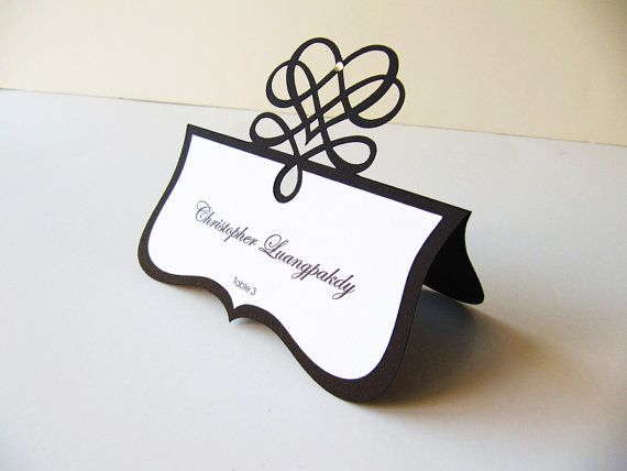Card Slot Name Holder Table Setting Cutting Dies DIY Scrapbook Paper Craft Gift