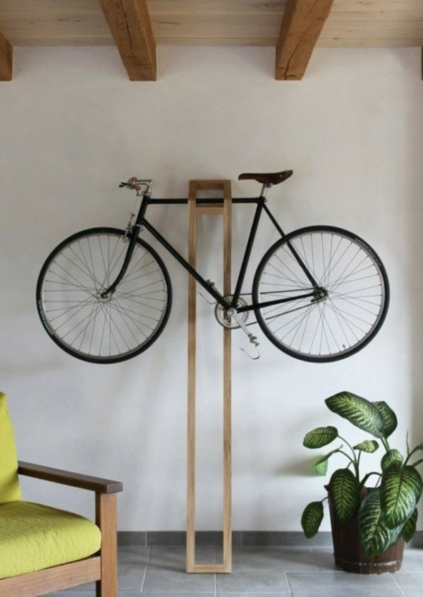 Creative living ideas bicycle stand wood design
