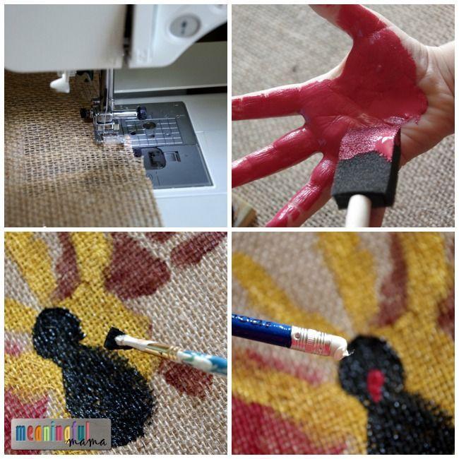 Handprint Turkey Placemats #handprintturkey turkey handprint placemat thanksgiving diy #handprintturkey