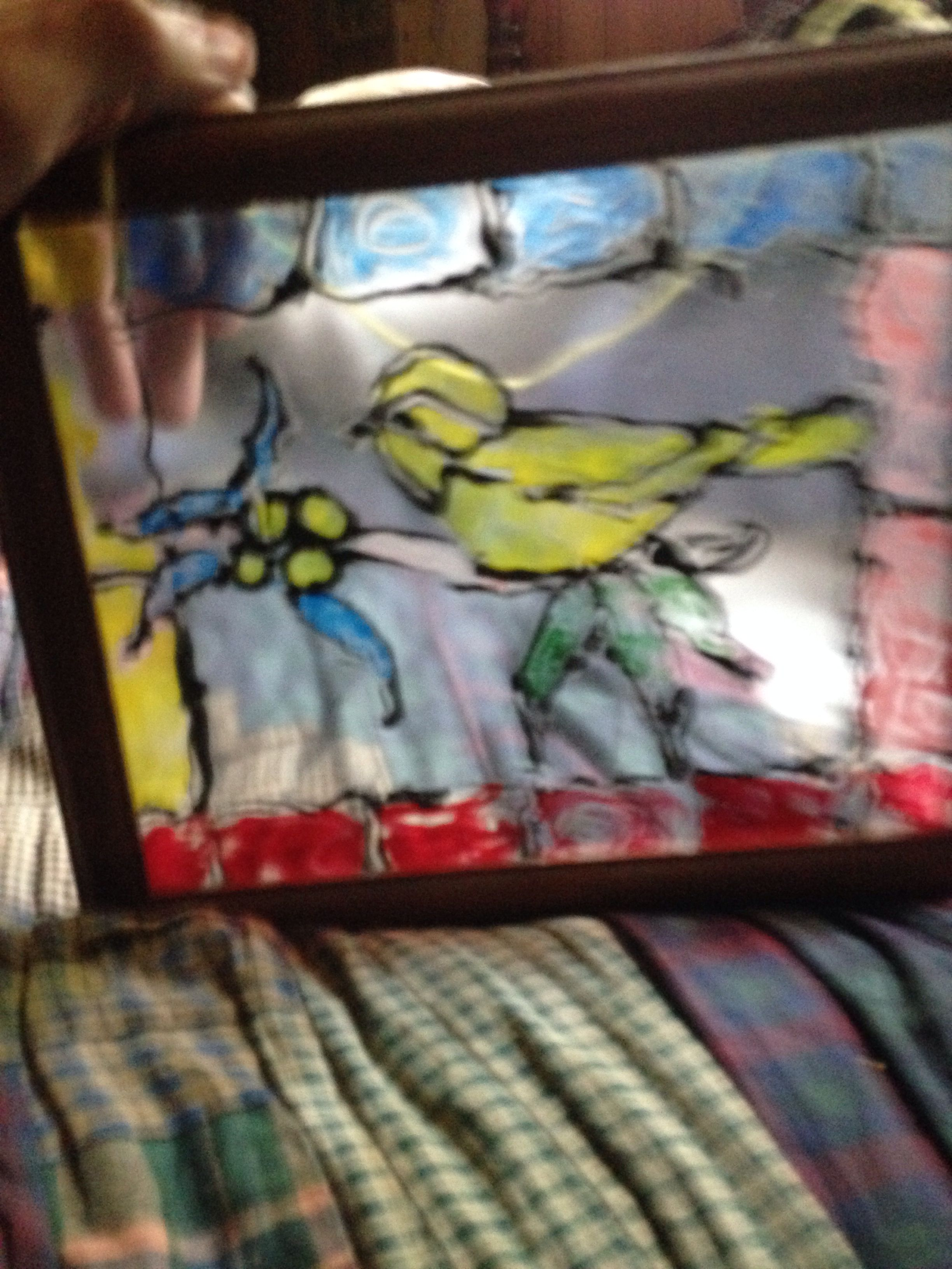 A stained glass photo I made about 20 years ago