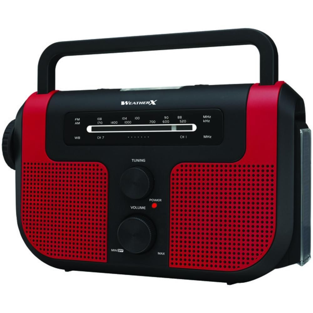 WeatherX(R) WR383R AM/FM/Weather Radio with Flashlight