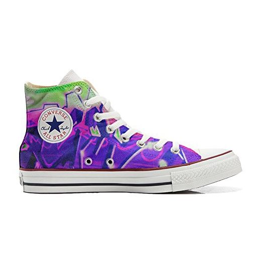 Converse All Star Customized - personalisierte Schuhe (Handwerk Produkt) Indian Paisley