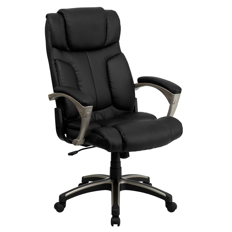 Flash Furniture High Back Folding Black LeatherSoft