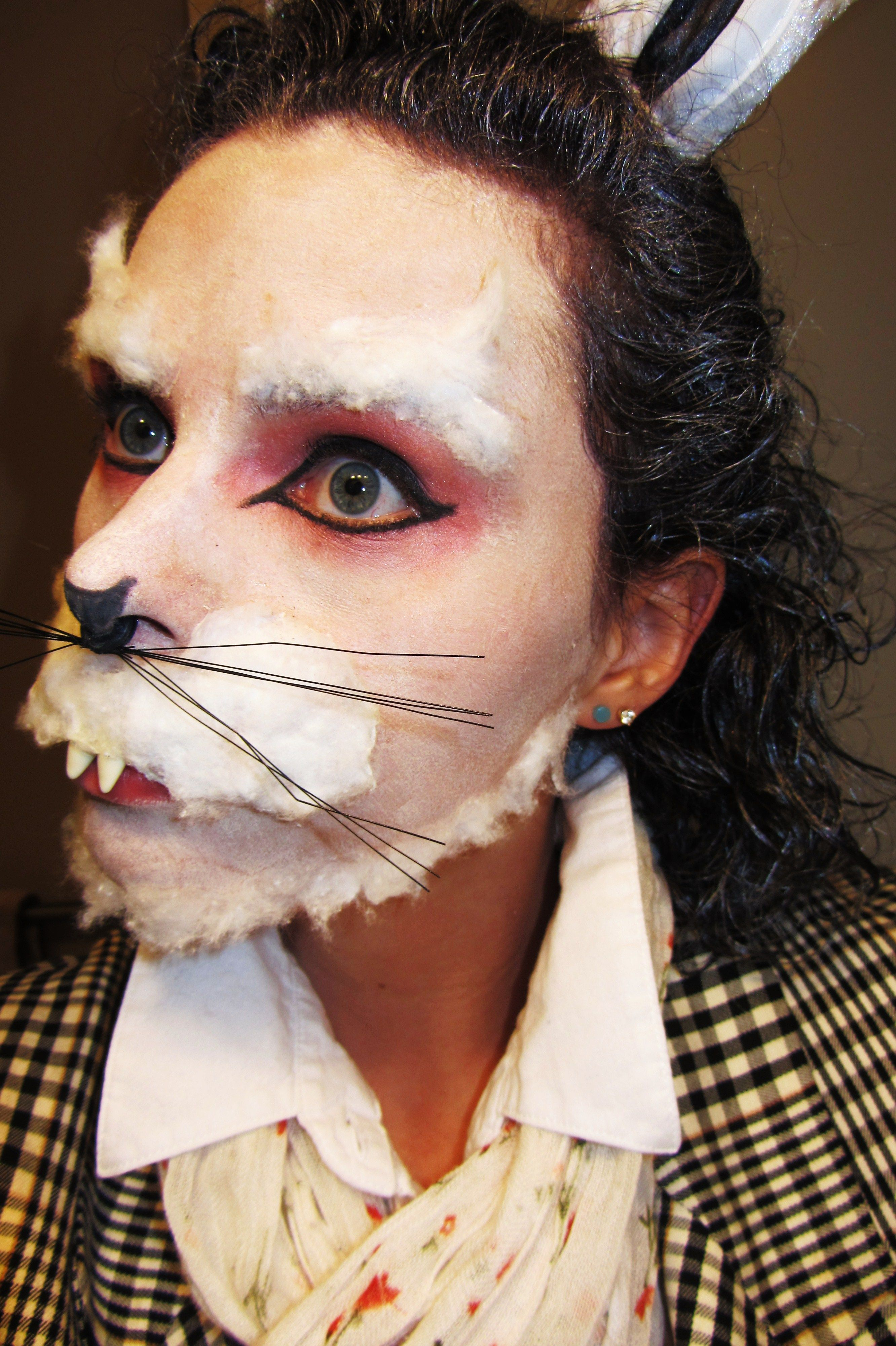 The White Rabbit Halloween Makeup | Paint yourself | Pinterest ...