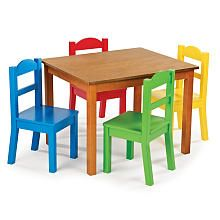 Tot Tutors Table Chair Set Dark Pine Tot Tutors Toys R Us Small Table And Chairs Toddler Table Toddler Table And Chairs