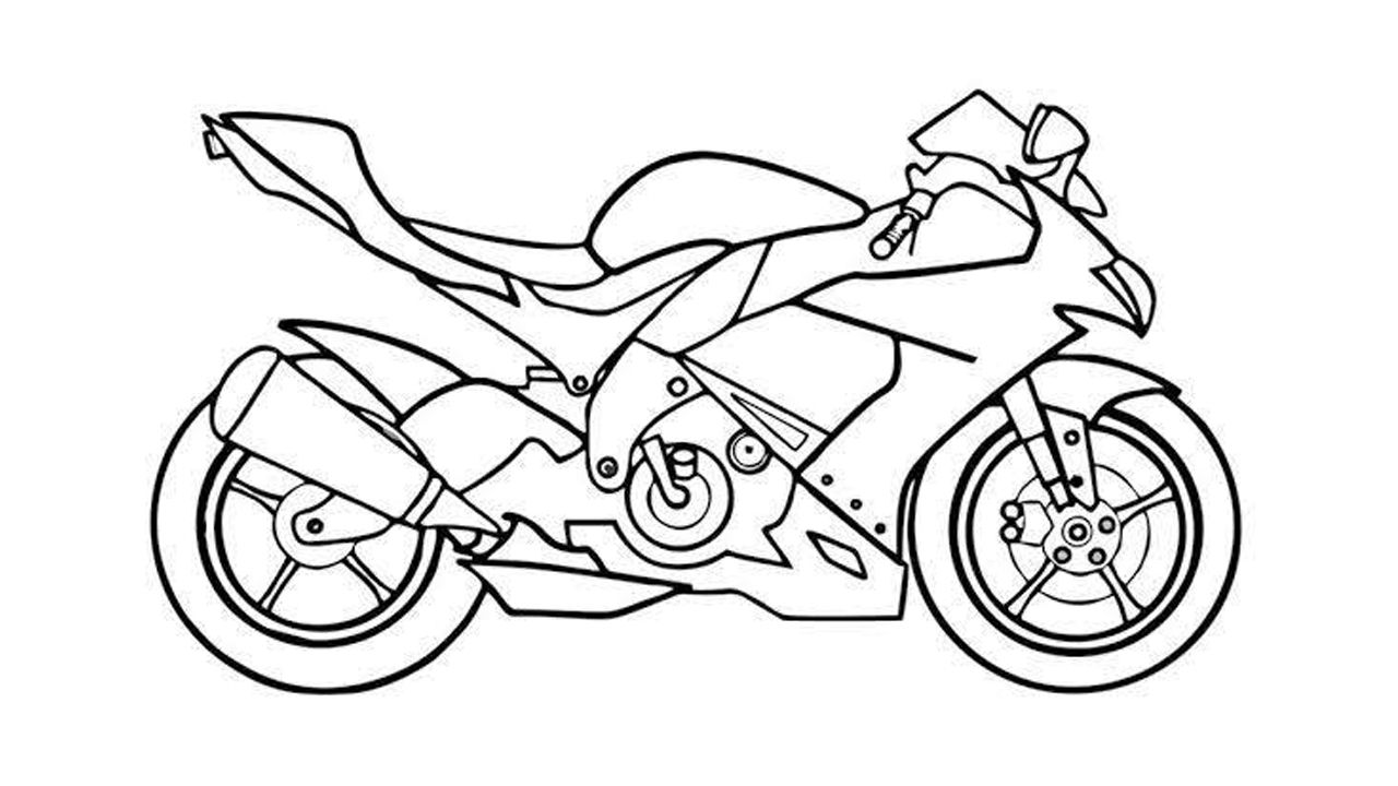How To Draw A Super Bike For Racing Step By Step Sportsbike Drawing Bike Drawing Motorbike Drawing Motorcycle Drawing