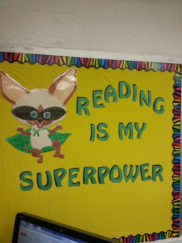 My skippy jon jones bulletin board - reading is my superpower