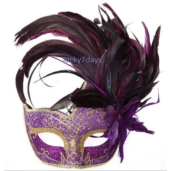 masquerade ball masks, Halloween mask, girl costumes, feather mask,... ❤ liked on Polyvore featuring masks and accessories