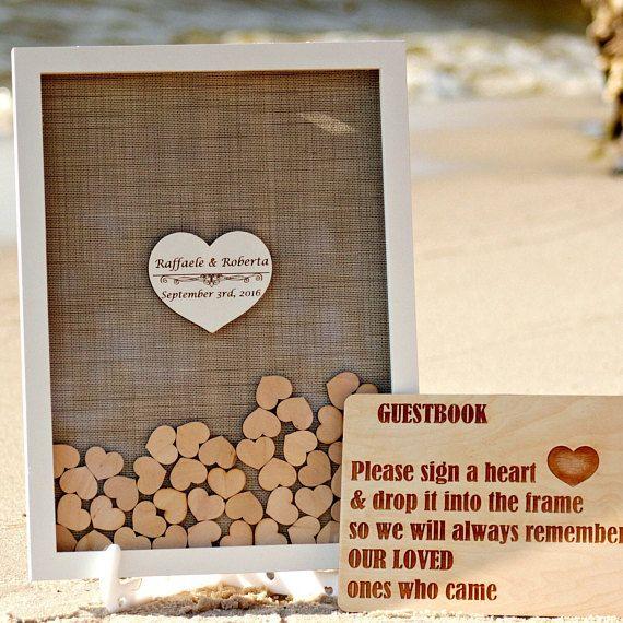 Wedding Guest Book Alternative Wedding Guestbook Drop Box