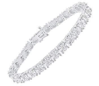 1 Carat Diamond Tennis Bracelet In Sterling Silver Tennis Bracelet Diamond Sparkly Bracelets Gorgeous Bracelet
