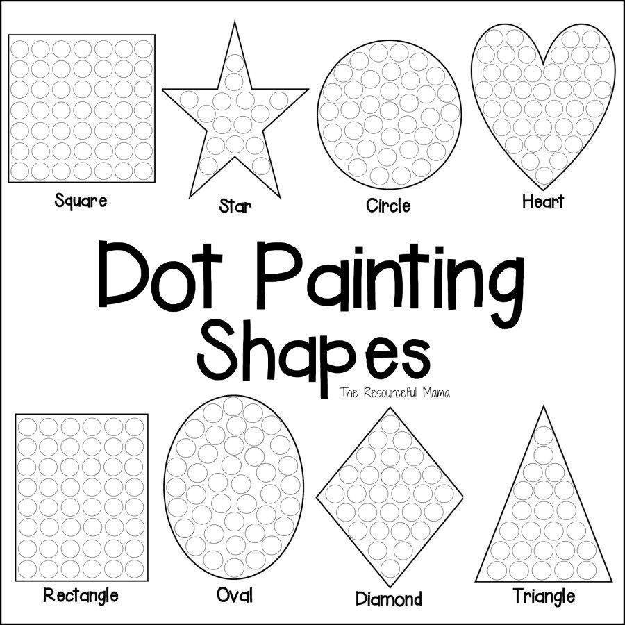 Shapes Dot Painting Free Printable Fun Preschool Worksheets