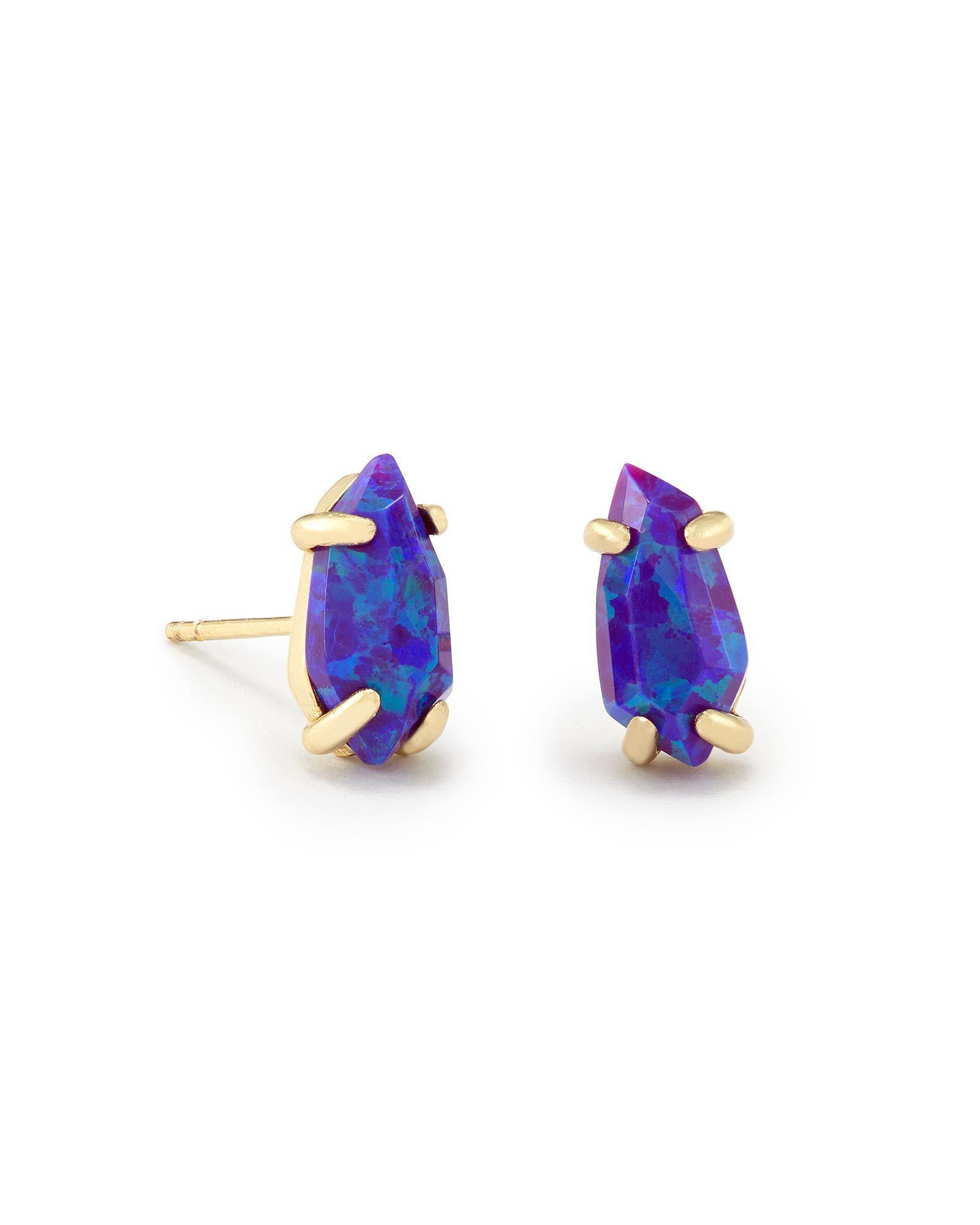 c9e531cce Jillian Stud Earrings In Purple Kyocera Opal - Kendra Scott Jewelry ...
