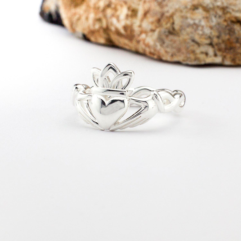 Irish Claddagh Ring Sterling Silver Celtic Friendship Love 925 hallmarked