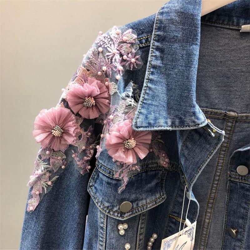 2019 Nouvelle Conception De Mode Femmes Denim Manteau