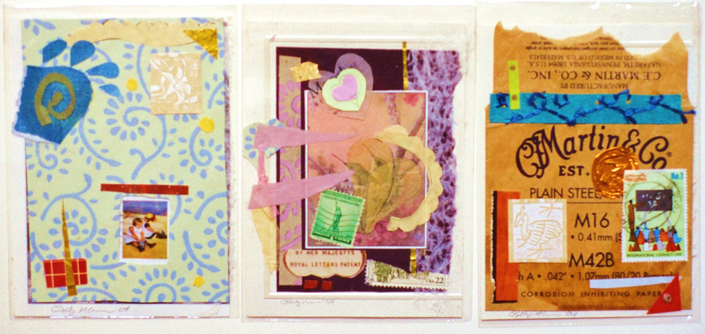 Collage Greeting Cards By Polly Mccann Upcycled Media Collage