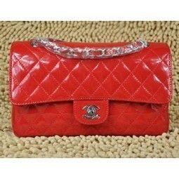 Chanel Rosso Borse In Pelle Di Brevetto Con Hardware Argento - €139.00    Italia Borse · Replica ... c7847ab5e25