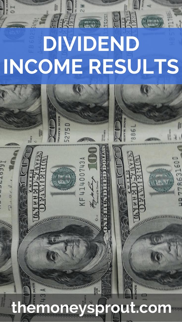 Dividend Income Results #stockportfolio