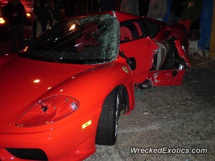 Ferrari 360 Challenge Stradale Crashed In Curitiba Brazil