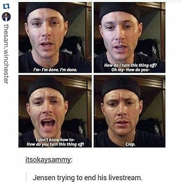 Cute dork    I love you so friggin much | Supernatural