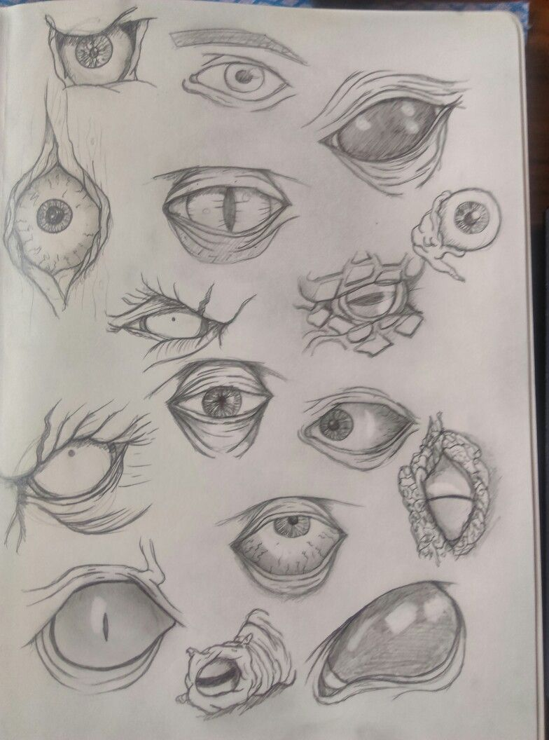 Demon Eyes Sketch Eye Sketch Demon Eyes Horror Artwork
