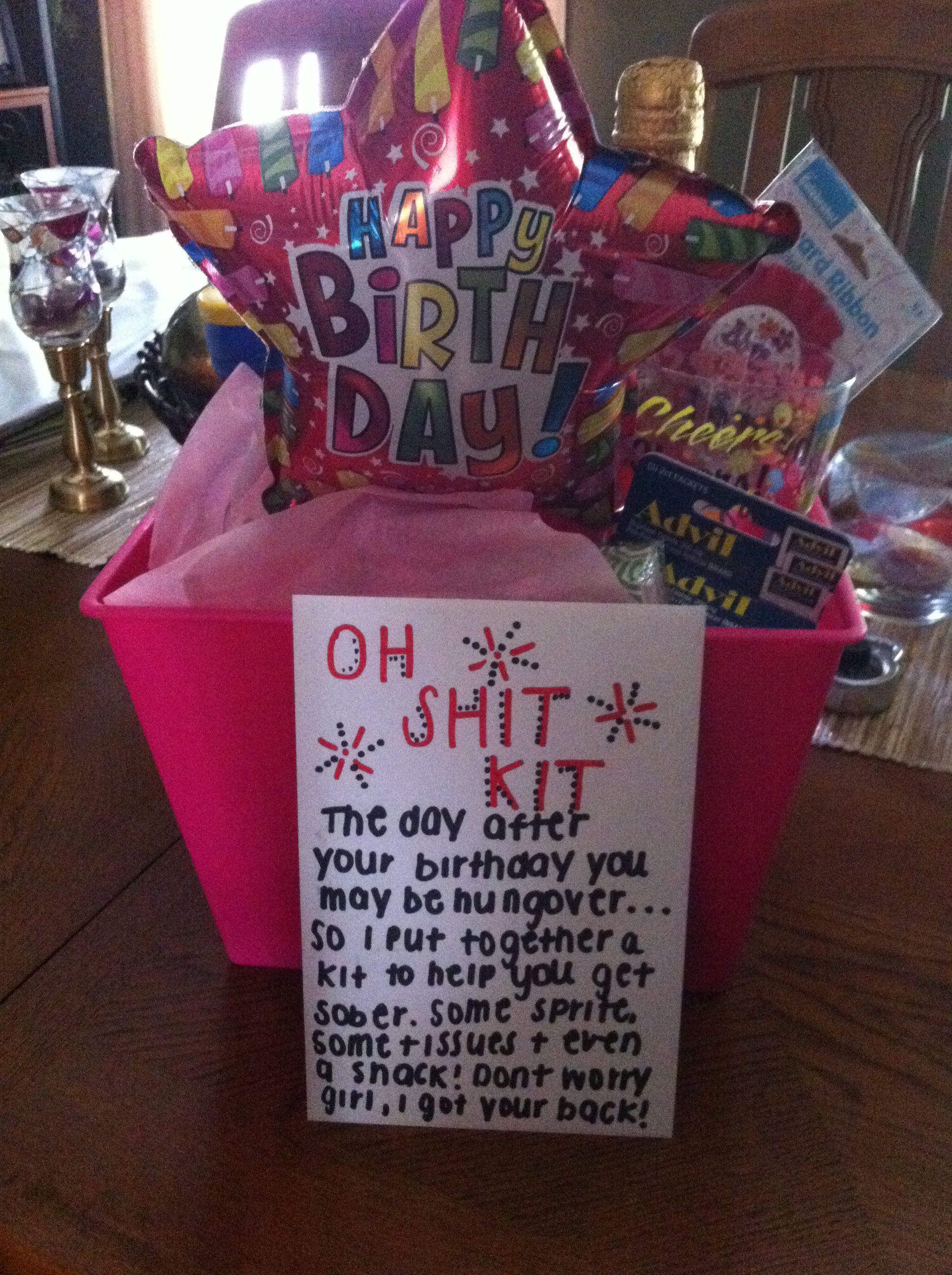 Oh Shit Hangover Kit For 21st Birthday Funny Birthday Gifts Birthday Care Packages 21st Birthday Gifts