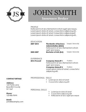 Creative Resume Templates Free Printable Resume Templates