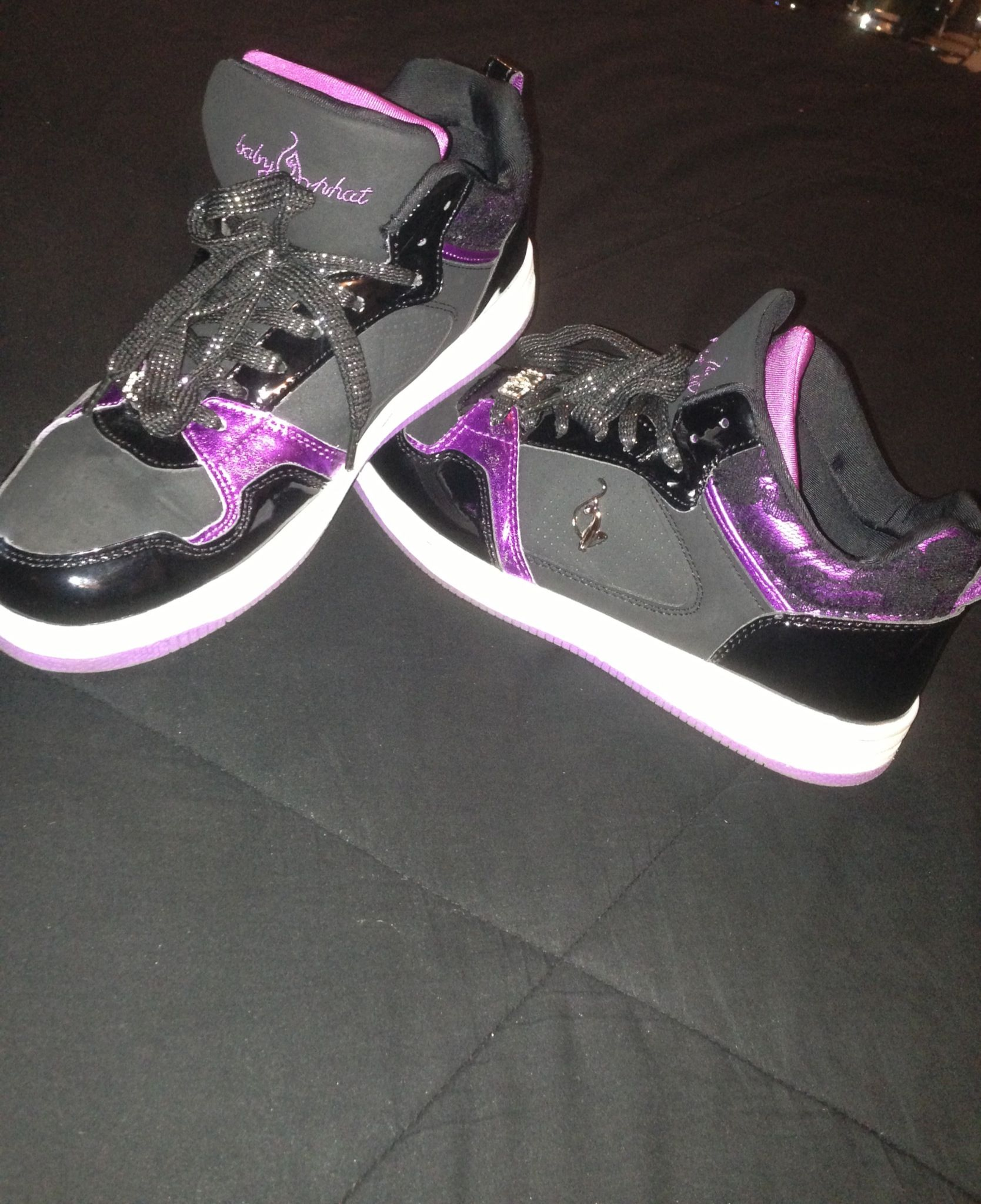 Black and purple Baby Phat shoes   Baby
