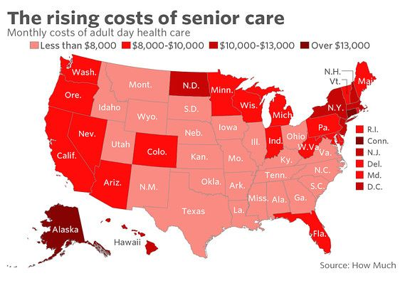 Here S How Much Elder Care Costs In Your State Marketwatch Elderly Care Care Health Care