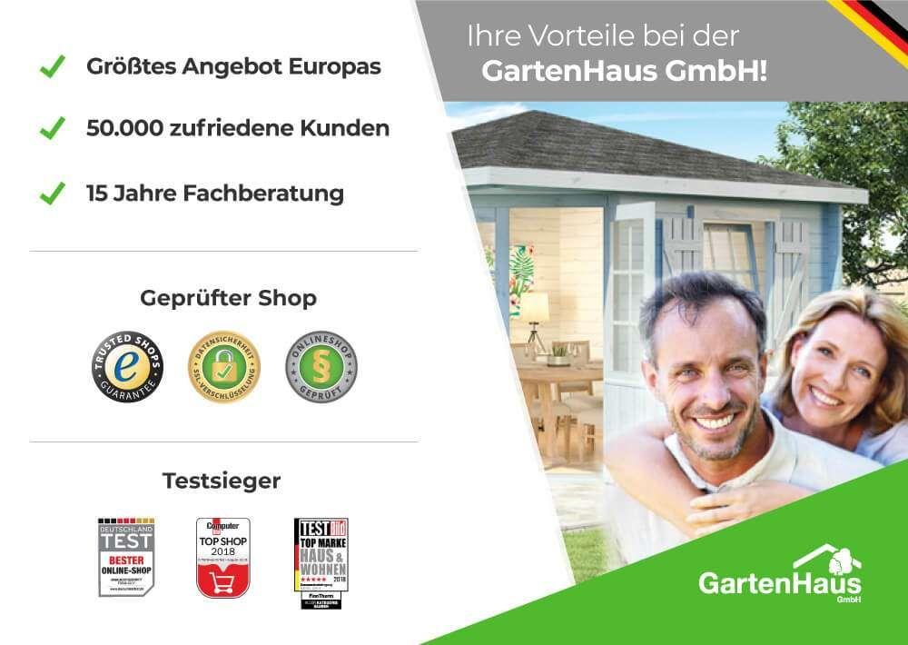 5Eck Gartenhaus Lindau40 mit Anbau in 2019 Gartenhaus