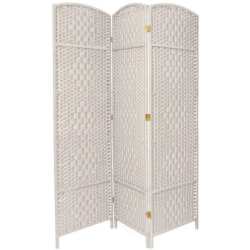 Oriental Furniture 6 Ft Tall Diamond Weave Fiber Room Divider 3