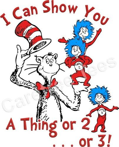 Thing 1 And Thing 2 Cat In The Hat Dr Seuss Cat In The