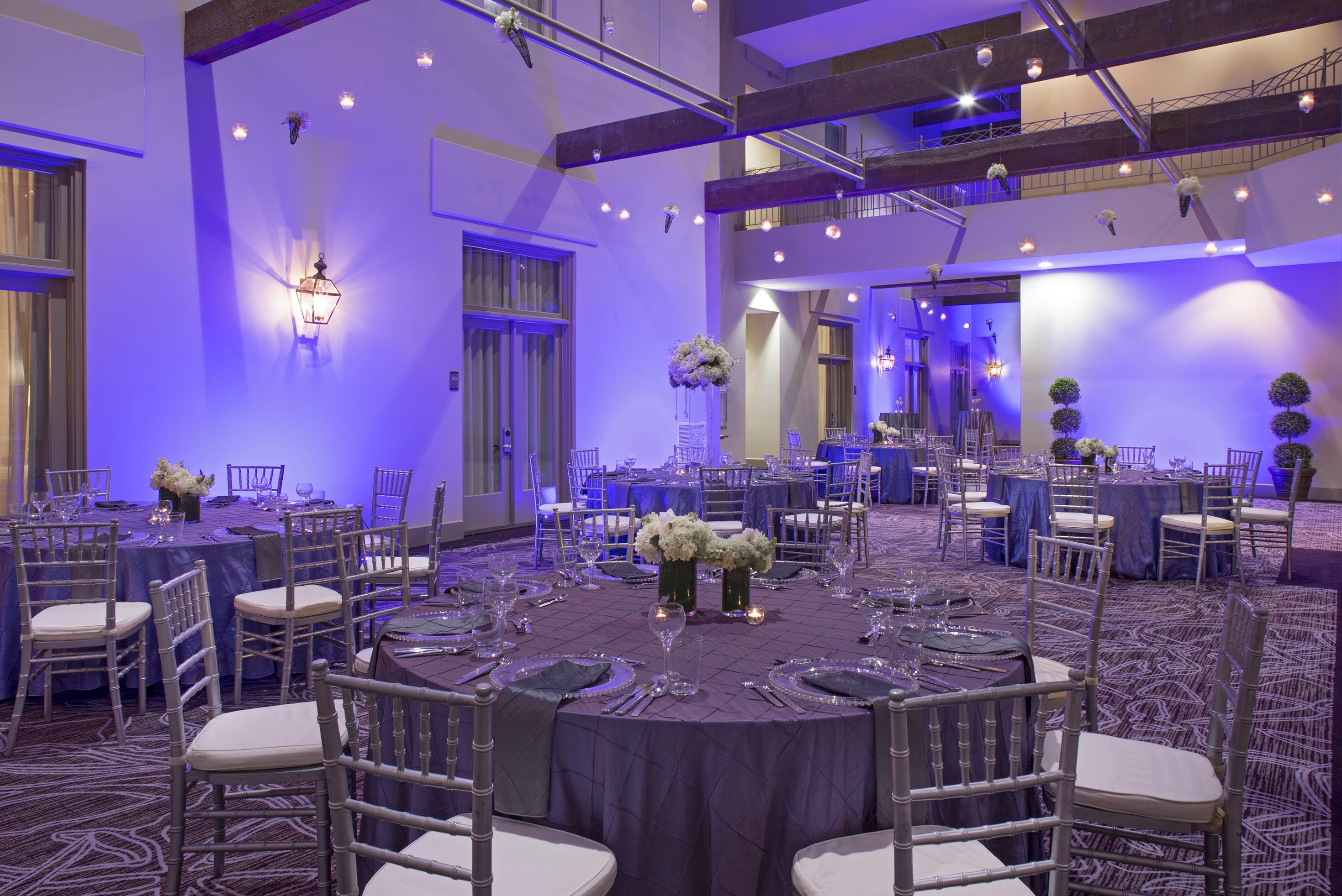 Intimate Wedding Reception inside the Hyatt French