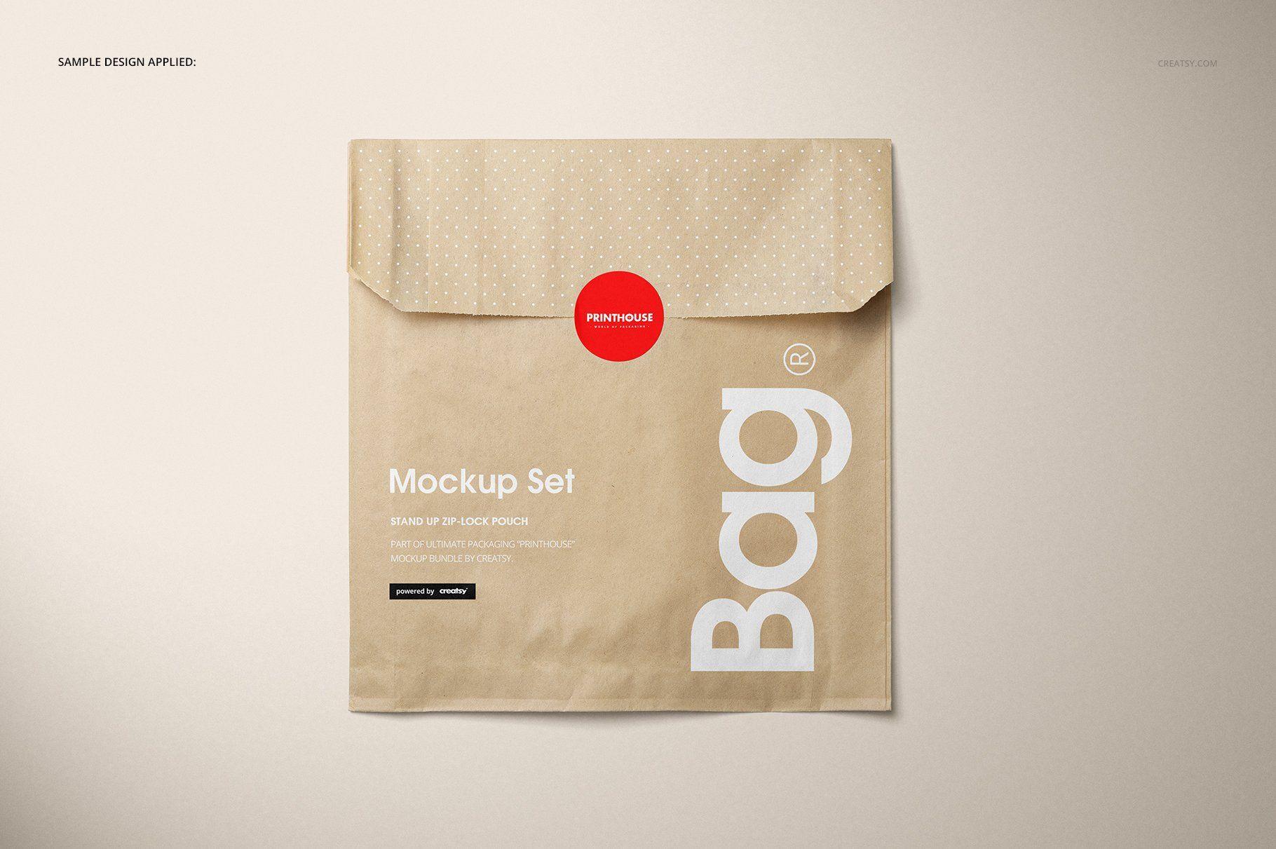 Download Sandwich Snack Paper Bag Mockup Set Bag Mockup Printable Business Cards Mockup