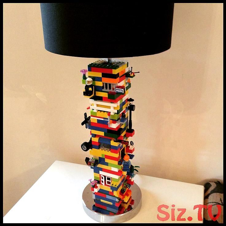 DIY Lego Lamp for the Game Room #the #DIYLegoLamp # for