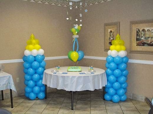 Decoracion Con Globos Para Baby Shower Paso A Paso Decoracion Baby Shower Centerpieces Baby Shower Balloons Baby Shower Decorations