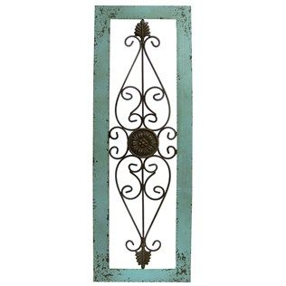 Wood Framed Metal Wall Art Turquoise Framed Metal Wall Decor  Shop Hobby Lobby  For The