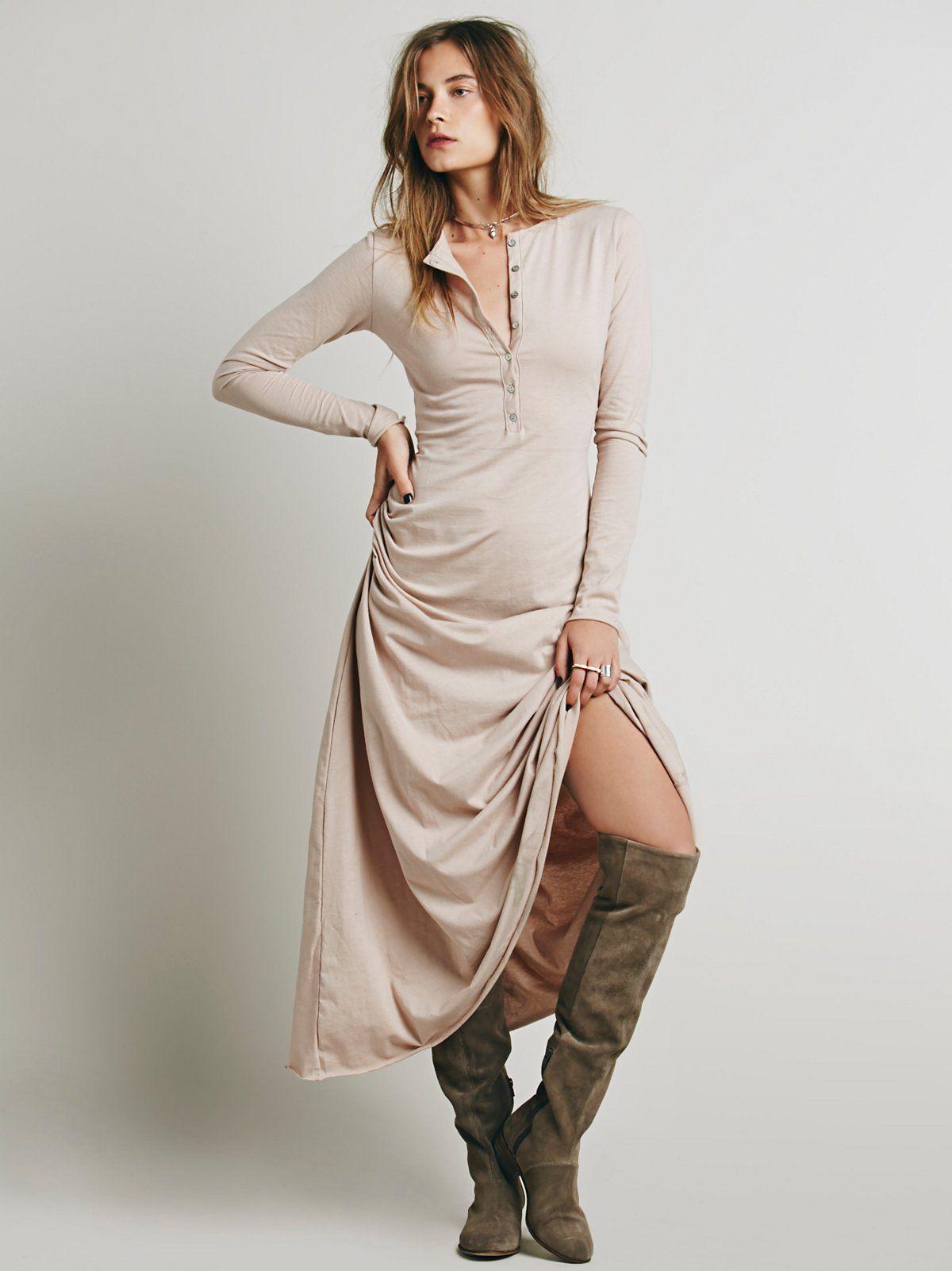 El topo dress henleys maxi dresses and cotton