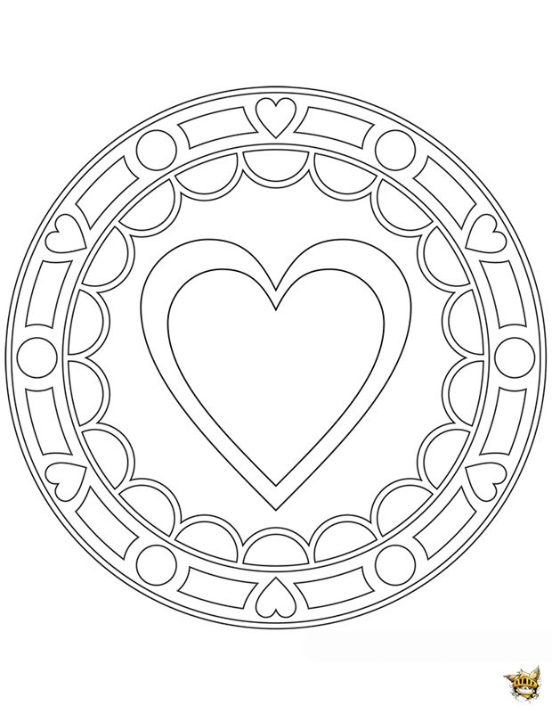 Gros coeur mandala gros coeur mandala coeur et coloriage - Gros coeur a imprimer ...