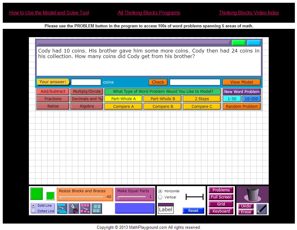 Thinking Blocks - Model Math Problems on iPads, Interactive ...