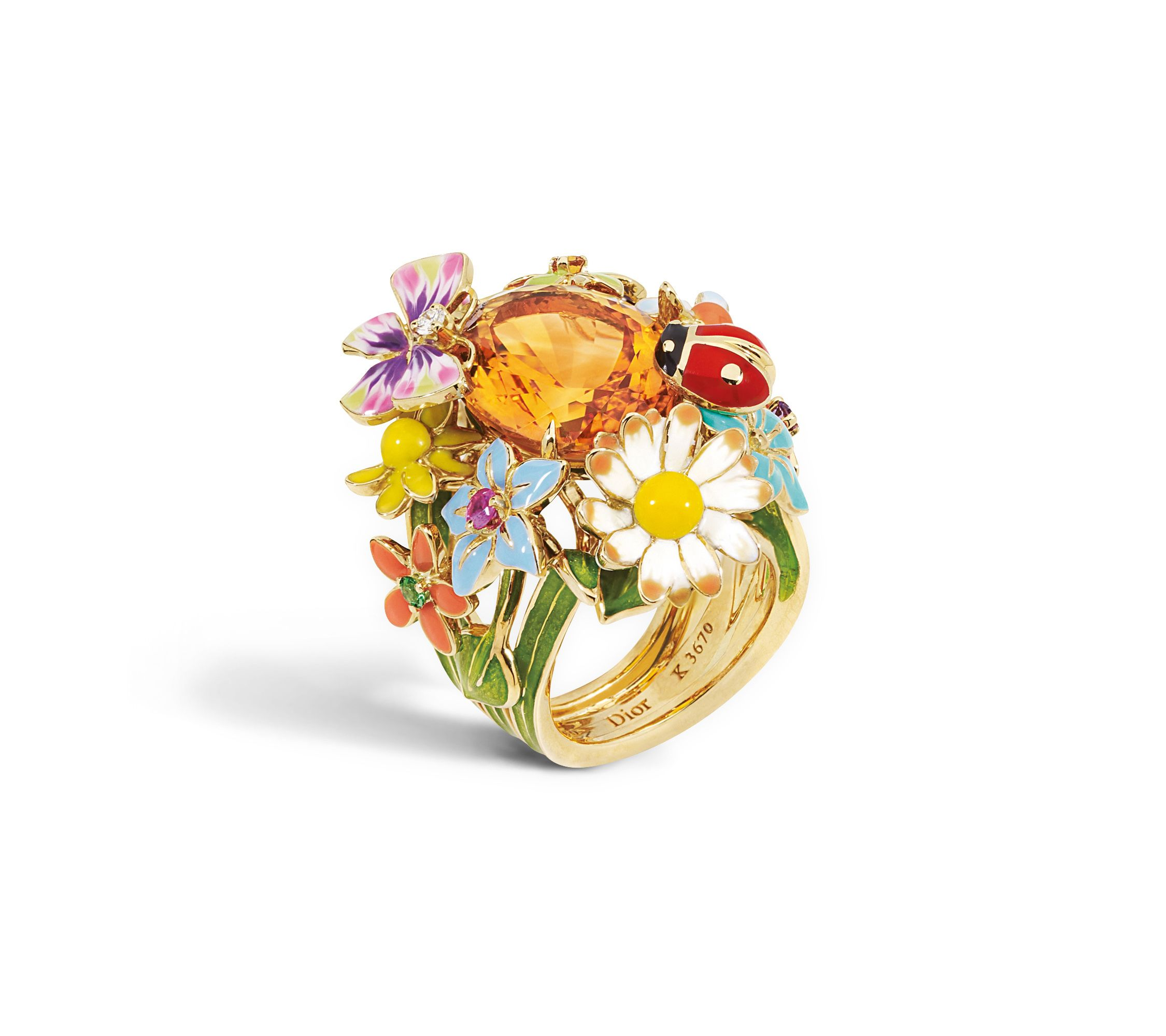 "Bague Dior Collection ""Jardin de Milly La Forêt"" Gold"