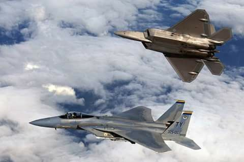 F-15C 325th FW Boss with Raptor both from Tyndall AFB FL