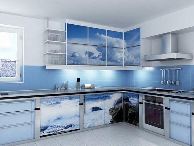 Une cuisine en bleu inspir e par la mer meilleures id es - Cuisine bleu ciel ...