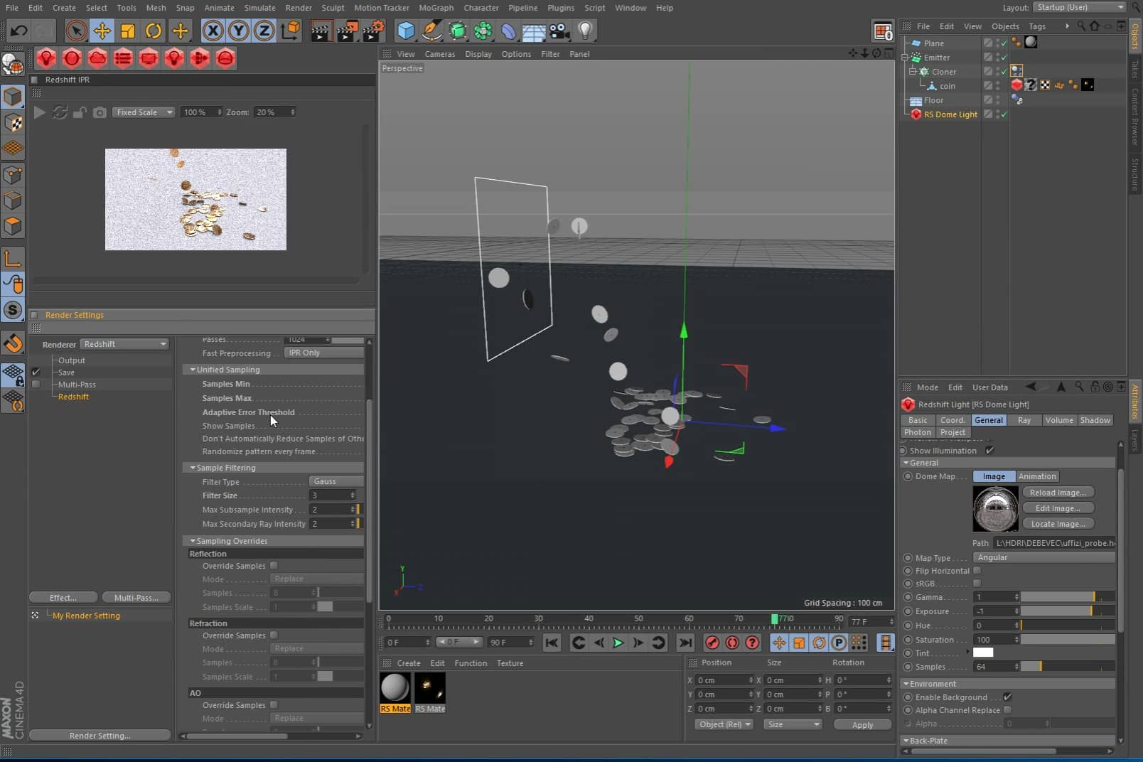 Redshift Displacement and Normal Map Setup in Cinema4D