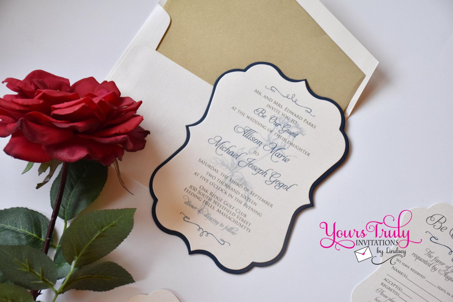 Be our Guest Beauty and the Beast Rose by yourstrulyinvitation ...