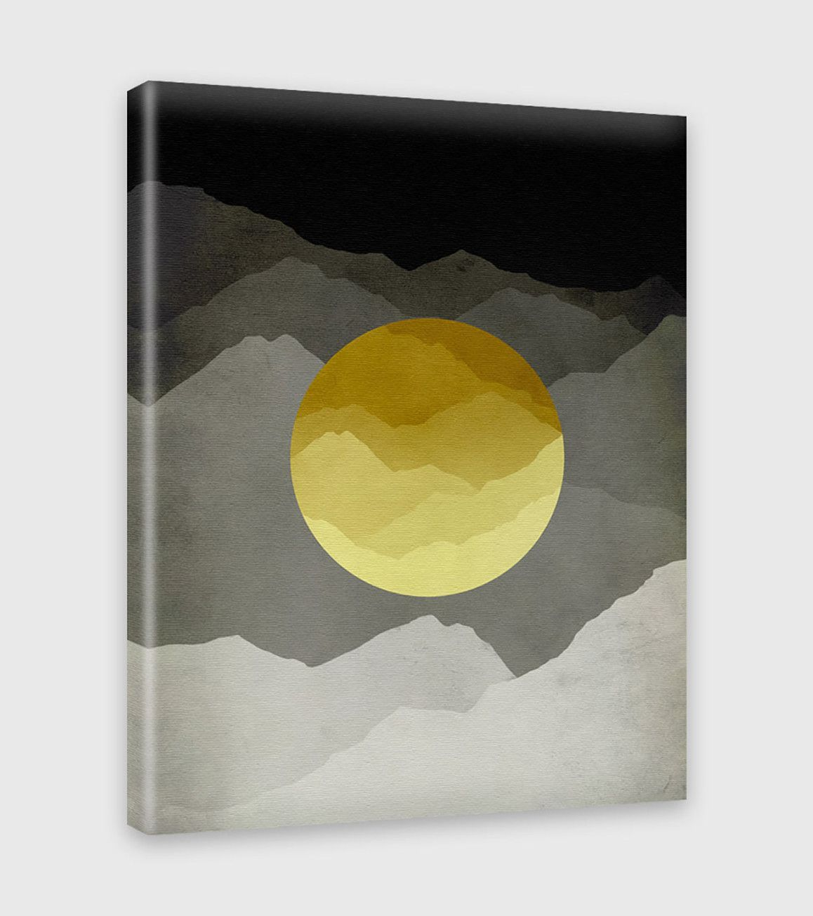 Night and day canvas print modern wall art mountain landscape