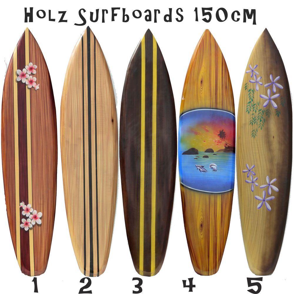 Deko Surfboard Holz Surfbretter Große Auswahl Surfbrett Motive