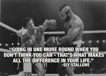 Rocky 12 Balboa Stallone Photo Motivation Inspiration Quote Poster Sport Boxing