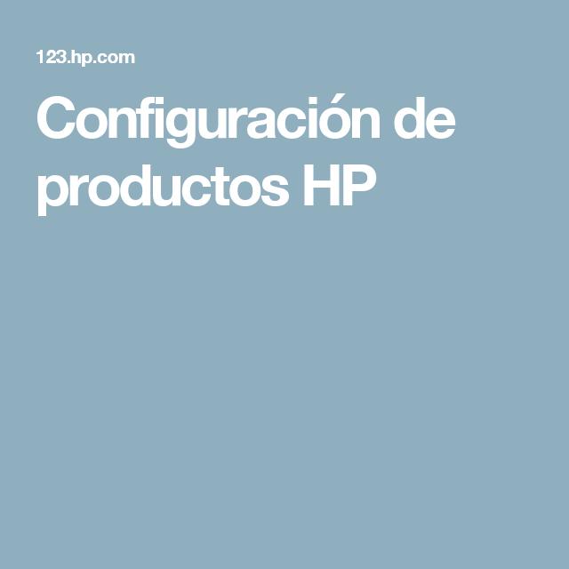Configuración de productos HP